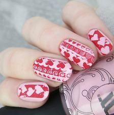 Valentine's Day Celebration DIY Manicure Nail Art Stamping Image Plate Template
