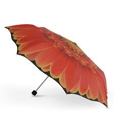 Magnifique nouveau cascada collection-orange gerbera floral manuel pliant parapluie