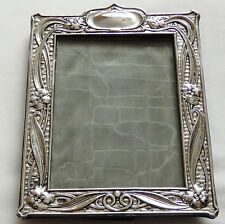 Antique Art Nouveau Sterling Silver Photo Frame Hallmarked 1904 Deakin & Francis