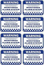 Set of 8 sticker decal vinyl car house home door warning monitored alarm system