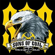 """3 - American Eagle SOC Mining Hard Hat Stickers """"Sons of Coal"""" H571"""