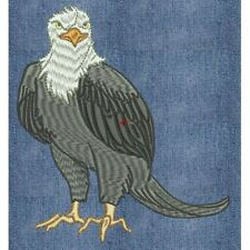 Embroidered Short-Sleeved T-Shirt - Eagle PE11