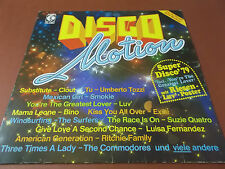 DISCO MOTION: VINYL LP: K-TEL: LUV: CLOUT: EXILE: SUPERMAX: SMOKIE: GENESIS