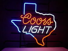 "New Coors Light Texas Lone Star Beer Lager Real Glass Handmade Neon Sign 17""x14"""