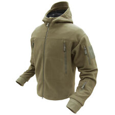 Condor #605 Tactical SIERRA Hooded MicroFleece Jacket TAN size M Medium