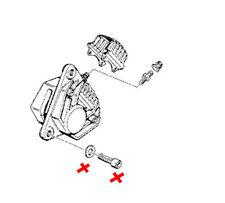 Bmw Ladrillo K75 de lija K100 Freno Delantero Arco De Freno De Acero Inoxidable Tornillos de montaje