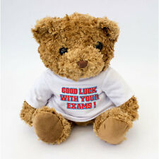 NEW - Good Luck With Your Exams Message Teddy Bear - Good Luck Gift For Exams
