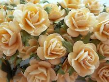 "100! Large Handmade Mulberry Paper Roses - 20MM/0.75"" - Gorgeous Deep Cream Rose"