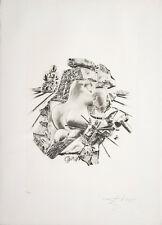 Salvador Dalì, La scultura, litografia, 70x50 cm, firmata e numerata, autentica