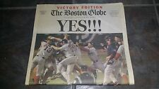 2004 BOSTON GLOBE RED SOX WORLD SERIES VICTORY EDITION NEWSPAPER REVERSE CURSE