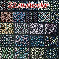 Nail Art Transfer Stickers 50 Sheets 3D Design Manicure Tips Decal For Beginner