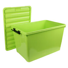 MULTIPURPOSE STORAGE BOX WITH LID - 60 LITRES - GREEN COLOR