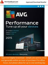 AVG Performance 2015 - 2 Year/Unlimited Devices - (Approved Digital Download)