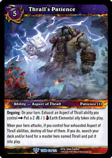 WOW WARCRAFT TCG TOMB OF THE FORGOTTEN : THRALL'S PATIENCE X 4