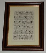 Circa 80 yrs old A is for Alfred who angled at Ayre alphabet available unframed