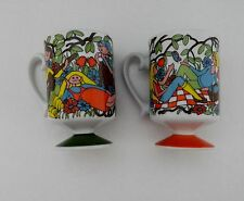 New Trends Inc. Japan Two Coffee Mugs / Cups Kids in Park / Kids on Picnic