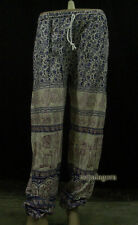 Tr416 Hippy Harem Multi color Elephant Printed elastic band Pant TROUSER Nepal