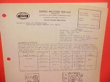 1939 CHEVROLET MASTER DELUXE UNITED MOTORS DELCO GM RADIO SERVICE MANUAL 985424