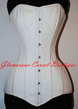 Long Cotton Corset Real Steel Boned Waist Training Corset LONG TORSO Size S