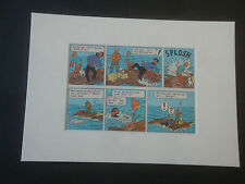 Tintin - Red Sea Sharks 1965 Edition Mounted Page Plate - individual purchase
