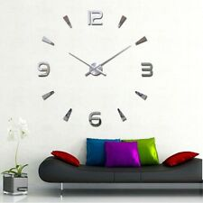 DIY 3D Luxury Large Wall Clock Mirror Surface Sticker Home Office Decor Lovely