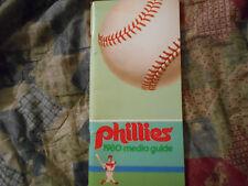 1980 PHILADELPHIA PHILLIES MEDIA GUIDE Baseball WORLD SERIES CHAMPS! Program AD