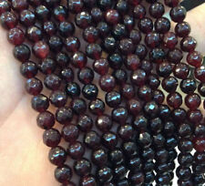 "AAA 4MM India Garnet Faceted Gemstone Rondelle Loose Beads 15"" Stran"