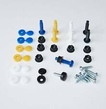 Number Plate Fixing Screws Caps Bolts / Nuts 32 Piece Kit