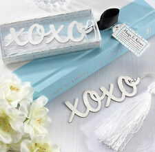 FD3694 Creative XOXO Exquisite Alloy Bookmarks With Ribbon Box Cute Gift