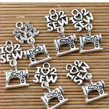 12pcs Tibetan silver sewing machine charms EF1391