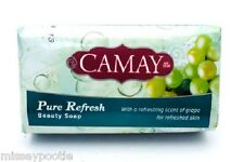Camay Pure Refresh Beauty Bar Soap with Scent of Grape 175g (Pack of 4 Bars)