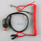 General Boat Outboard Engine Motor Kill Stop Switch & Safety Tether Lanyard