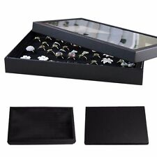 100 Slots Ring Jewelry Storage Ear Pin Display Box Organizer Holder Show Case