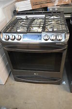 "LG LSG4513BD 30"" Black Stainless Steel Slide-In Gas Range NOB #10847"