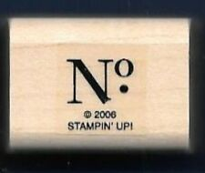 NO. Identify Print BUSINESS label tag card words Stampin' Up! wood RUBBER STAMP