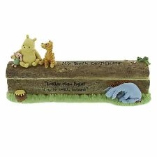 Disney Classic Pooh Birth Certificate Holder Baby Christening Gift Idea  25534
