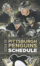 PITTSBURGH PENGUINS MARC-ANDRE FLEURY CROSBY MALKIN LETANG 2014-15 TEAM SCHEDULE