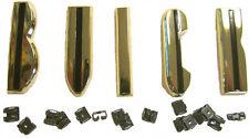 """""""BUICK"""" GOLD HOOD LETTERS 1955 56 ROADMASTER w/Orig. Type Clips +PARTS SALE LIST"""