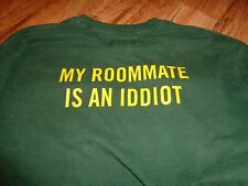 VINTAGE MEN'S ABERCROMBIE & FITCH COLLEGE DORM MY ROOMMATE IS AN IDIOT XL