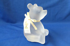 Charpente Disney Winnie The Pooh Frosted Crystal Glass Figurine