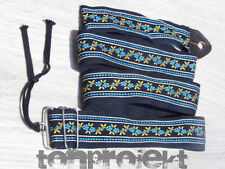 nice vintage  woven Guitarstrap textile canvas FLOWER GUITAR STRAP Germany 1960s