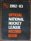 1982-1983 National Hockey League Official NHL Record Book