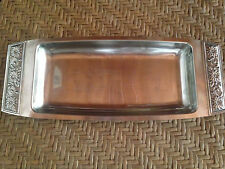 Stanley Roberts Stainless Steel Bread Tray Serving Platter Double Handled