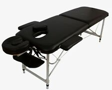 ALUMINIUM LIGHTWEIGHT  PORTABLE MASSAGE TABLE BLACK