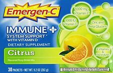Emergen-C Immune Plus System Support with Vitamin D Citrus 30 Packets