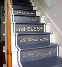 Wall Decals Family Quote Staircase Vinyl Sticker Stairs Decal Home Decor KG854