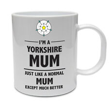 YORKSHIRE MUM - Mother / Mummy / County / Rose / Fun / Gift Themed Ceramic Mug
