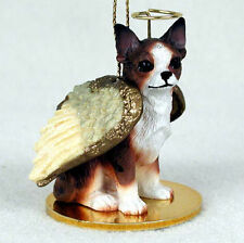 Chihuahua Dog Figurine Angel Statue Brindle