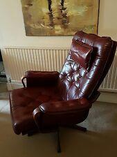 Cuero Vintage daneway silla giratoria y reposapiés. Colección sólo London SW18