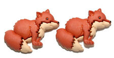 CUTE RED FOX STUD EARRINGS (S540)